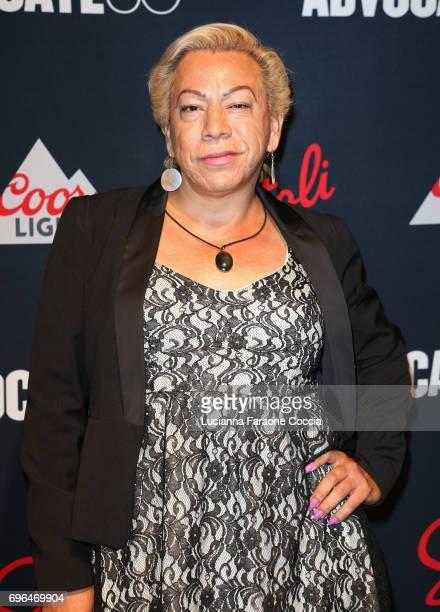Activist Bamby Salcedo attends The Advocate 50th anniversary gala at Mack Sennett Studios on June 15 2017 in Los Angeles California