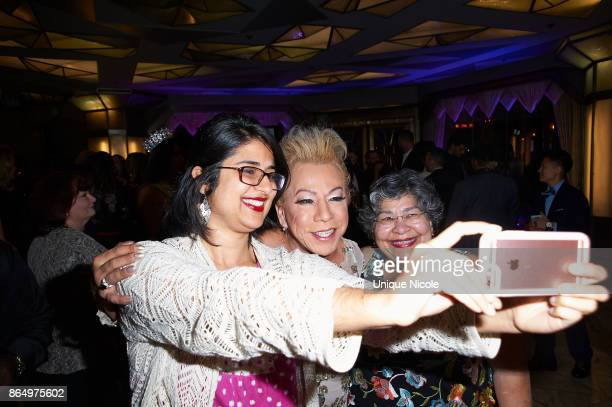 Activist Bamby Salcedo with guest attends the 2nd Annual TransNation Festival Closing Gala 'Eleganza' at Cicada on October 21 2017 in Los Angeles...