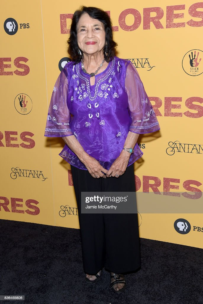 Activist Dolores Huerta attends the 'Dolores' New York Premiere at The Metrograph on August 21, 2017 in New York City.