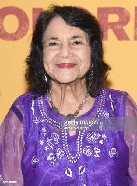 Activist Dolores Huerta attends the 'Dolores' New York Premiere at The Metrograph on August 21 2017 in New York City