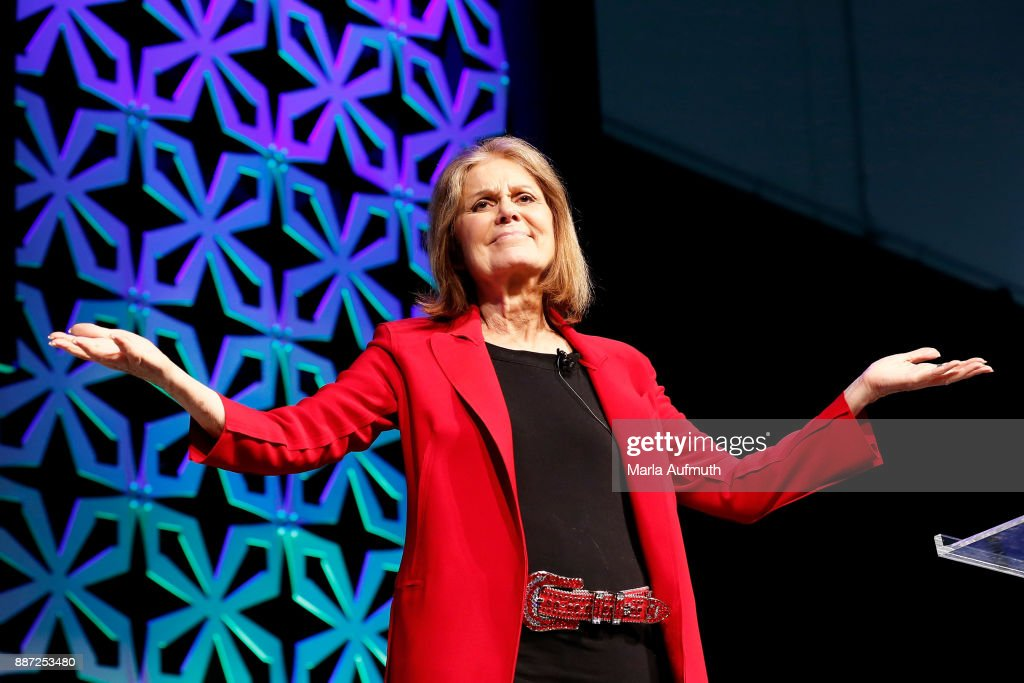 Activist Gloria Steinem speaks at the Opening Night of the Massachusetts Conference for Women at the Boston Convention Center on December 6, 2017 in Boston, Massachusetts.