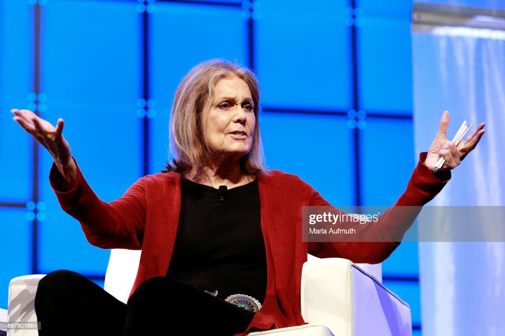 Activist Gloria Steinem speaks during the Massachusetts Conference for Women 2017 at the Boston Convention Center on December 7, 2017 in Boston, Massachusetts.
