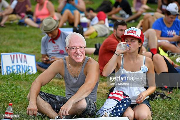 Activist including hundreds of environmentalists and Bernie Sanders supporters gather before the start of the Democratic National Convention on July...