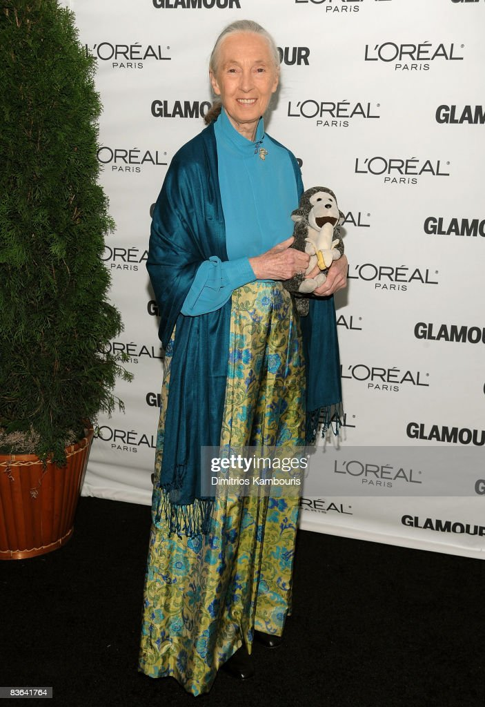Activist <a gi-track='captionPersonalityLinkClicked' href=/galleries/search?phrase=Jane+Goodall&family=editorial&specificpeople=224034 ng-click='$event.stopPropagation()'>Jane Goodall</a> attends the 2008 Glamour Women of the Year Awards at Carnegie Hall on November 10, 2008 in New York City.