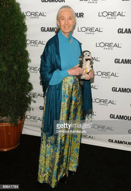 Activist Jane Goodall attends the 2008 Glamour Women of the Year Awards at Carnegie Hall on November 10 2008 in New York City