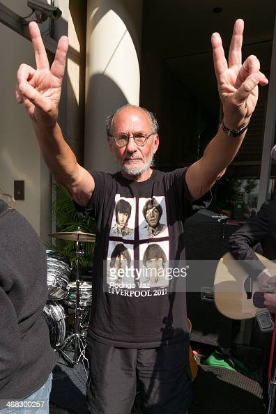 Activist Jerry Rubin attends the 'Beatles Hollywood 50' Public Commemoration at Capitol Records Tower on February 9 2014 in Los Angeles California