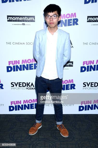 Activist Joshua Wong attends the screening Of 'Fun Mom Dinner' at Landmark Sunshine Cinema on August 1 2017 in New York City