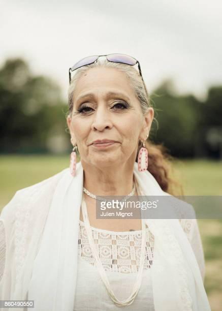 Activist Ladonna Brave Bull Allard is photographed for We Love Art on June 2017 in Paris France