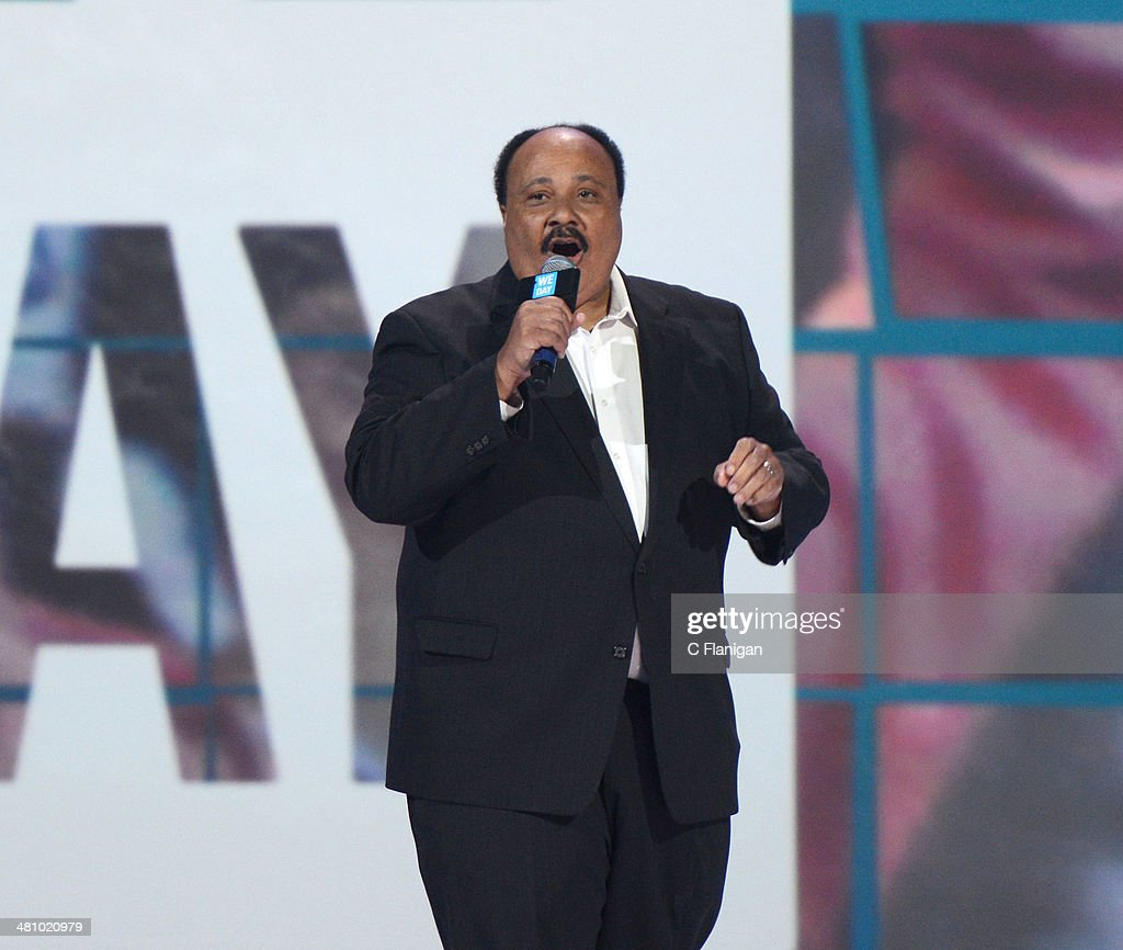 Activist <a gi-track='captionPersonalityLinkClicked' href=/galleries/search?phrase=Martin+Luther+King+III&family=editorial&specificpeople=216411 ng-click='$event.stopPropagation()'>Martin Luther King III</a> onstage during the 1st Annual 'We Day' California at ORACLE Arena on March 26, 2014 in Oakland, California.