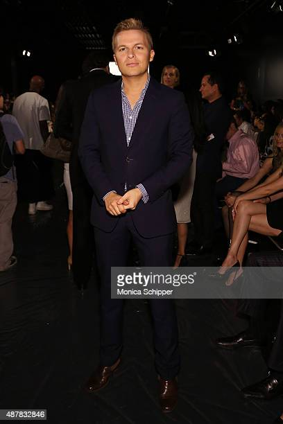 Activist Ronan Farrow attends the Zang Toi fashion show during Spring 2016 New York Fashion Week The Shows at The Dock Skylight at Moynihan Station...