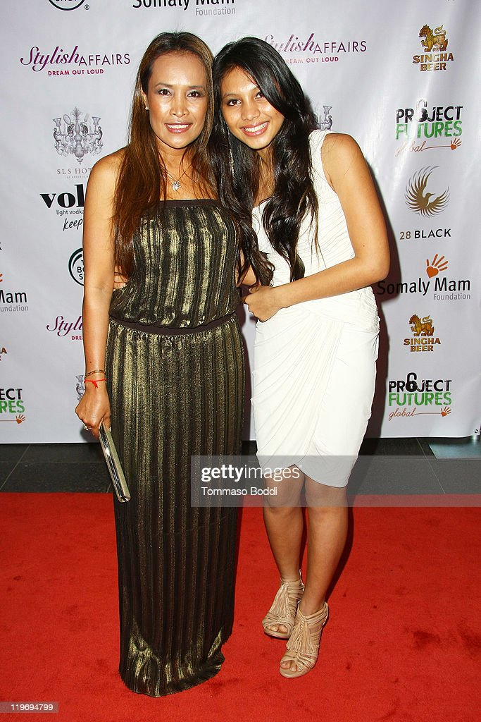 Activist Somaly Mam (L) and daughter Adana Mam attend the Somaly Mam Foundation's Project Futures Global Campaign launch event held at the SLS Hotel on July 23, 2011 in Beverly Hills, California.