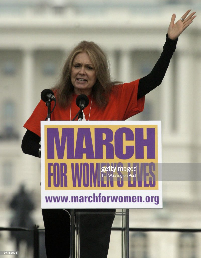 ME/WOMEN Activists gather in the hundreds of thousands to march for women's rights in what may be the largest rally ever. Pictured, Gloria Steinem.