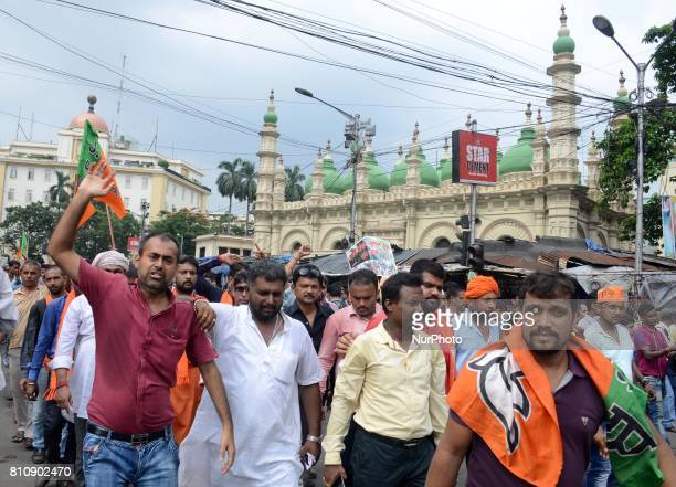 BJP activists held a protest rally against the act of state government and demanding Presidential rule 356 in state to stop the Communal riots amp...