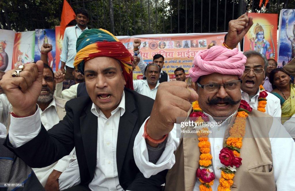 Akhil Bhartiya Samagike Kshatriya Bhaichara Activists Protest against Sanjay Leela Bhansali's upcoming film Padmavati