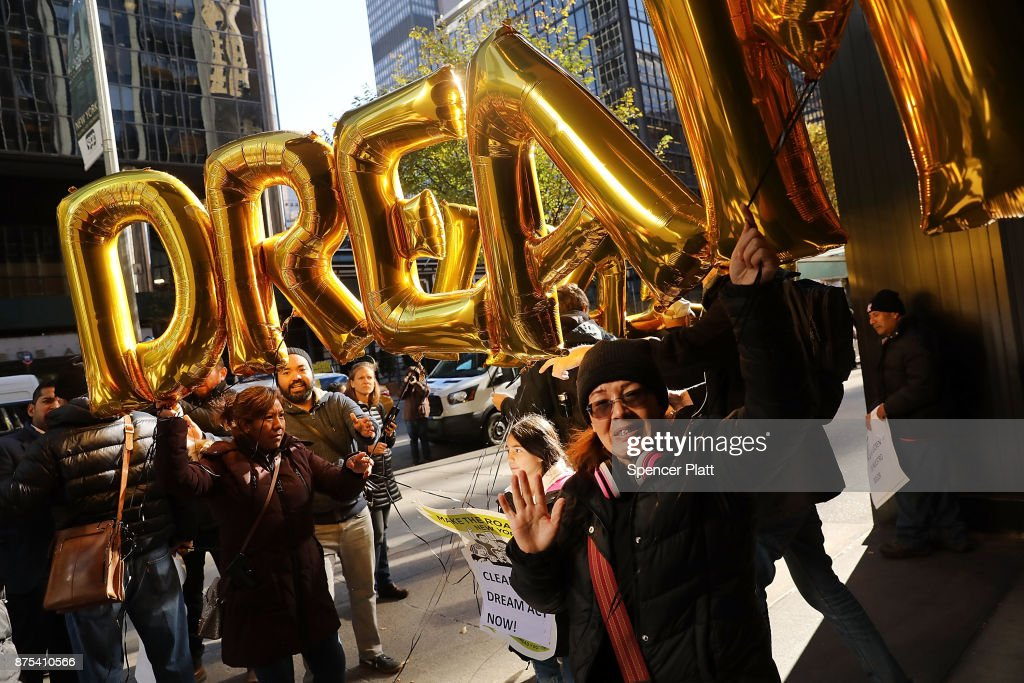 Activists Demonstrate Against Financial Companies Poised To Profit From Trump's Border Wall