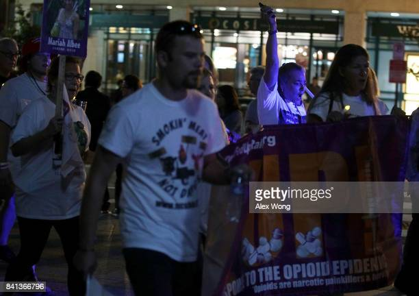 Activists participate in a march from the Ellipse to the White House August 31 2017 in Washington DC FED UP Coalition hosted its annual International...