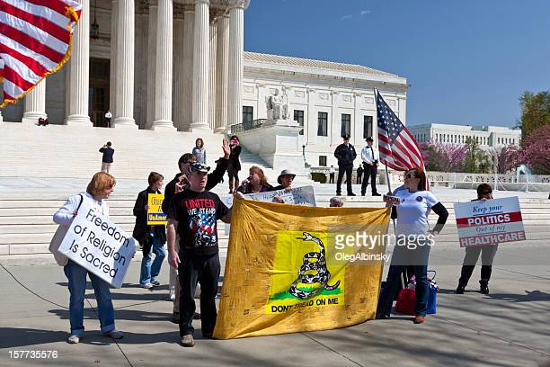 Activists protest National Healthcare Law (Obamacare), US Supreme Court, Washington.