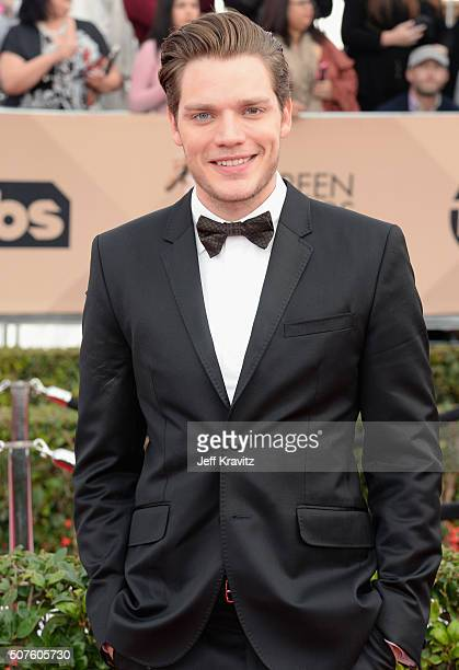 Acto Dominic Sherwood attends the 22nd Annual Screen Actors Guild Awards at The Shrine Auditorium on January 30 2016 in Los Angeles California