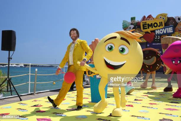 Actoe TJ Miller attends 'The Emoji Movie' photo call at the start of the 70th Cannes Film Festival at The Carlton Pier on May 16 2017 in Cannes France