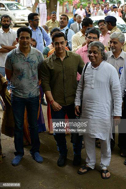 Actor Aamir Khan at the launch of the book My Marathi Communicative Marathi For Beginners Level 1 at the University of Mumbai Kalina