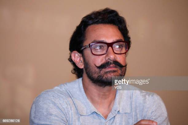 Actor Aamir Khan attends 'Dangal' press conference at China Film Archive on April 16 2017 in Beijing China