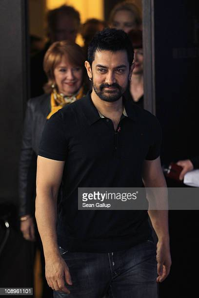 Actor Aamir Khan attends the International Jury Photocall during day one of the 61st Berlin International Film Festival at the Grand Hyatt on...