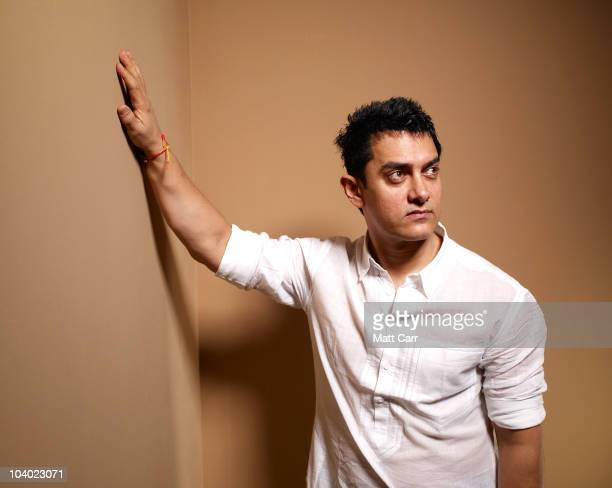 Actor Aamir Khan from 'Dhobi Ghat' poses for a portrait during the 2010 Toronto International Film Festival in Guess Portrait Studio at Hyatt Regency...