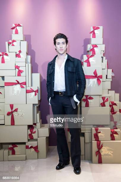 Actor Aarif Lee poses for a photograph on the red carpet at the Burberry Pacific Place event on 03 November 2016 in Hong Kong China