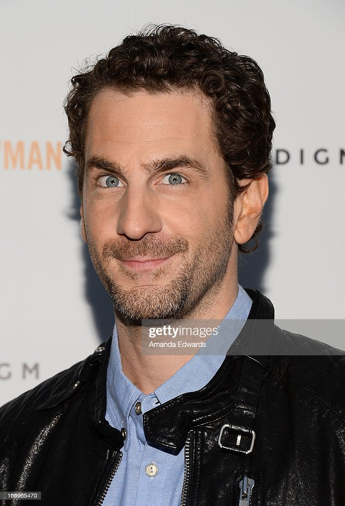 Actor Aaron Abrams arrives at the Los Angeles premiere of 'Arthur Newman' at ArcLight Hollywood on April 18, 2013 in Hollywood, California.