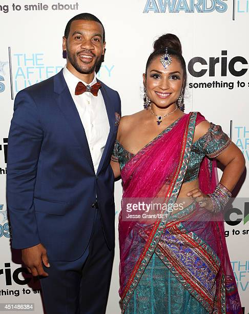 Actor Aaron D Spears and Estela Spears attend the BET AWARDS '14 post show at Nokia Theatre LA LIVE on June 29 2014 in Los Angeles California