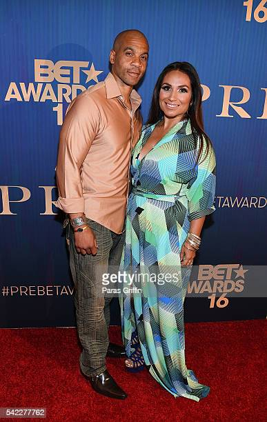 Actor Aaron D Spears and guest attend Debra Lee's PRE kicking off the 2016 BET Awards at The London West Hollywood on June 22 2016 in West Hollywood...