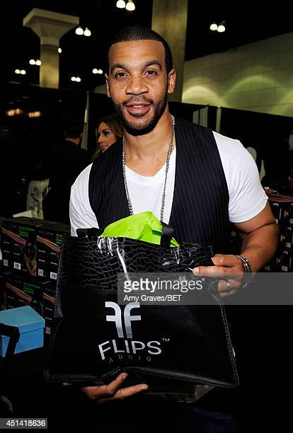 Actor Aaron D Spears attends day 1 of a gifting suite during the 2014 BET Experience at LA LIVE on June 28 2014 in Los Angeles California