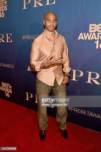 Actor Aaron D Spears attends Debra Lee's PRE kicking off the 2016 BET Awards on June 22 2016 in Los Angeles California
