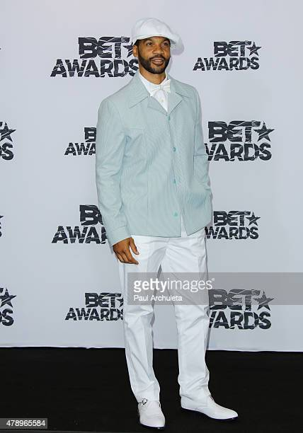 Actor Aaron D Spears attends the 2015 BET Awards press room on June 28 2015 in Los Angeles California