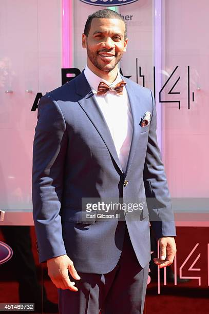 Actor Aaron D Spears attends the BET AWARDS '14 at Nokia Theatre LA LIVE on June 29 2014 in Los Angeles California