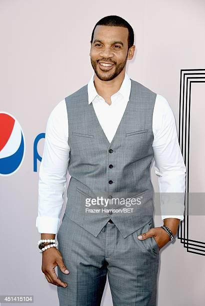 Actor Aaron D Spears attends the BET AWARDS '14 Debra Lee's PreDinner held at Milk Studios on June 28 2014 in Los Angeles California