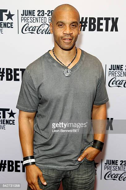 Actor Aaron D Spears attends the VIP late night kick off party during the 2016 BET Experience at the Conga Room on June 23 2016 in Los Angeles...