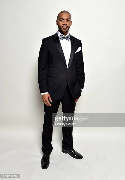 Actor Aaron D Spears poses for a portrait during the 45th NAACP Image Awards presented by TV One at Pasadena Civic Auditorium on February 22 2014 in...