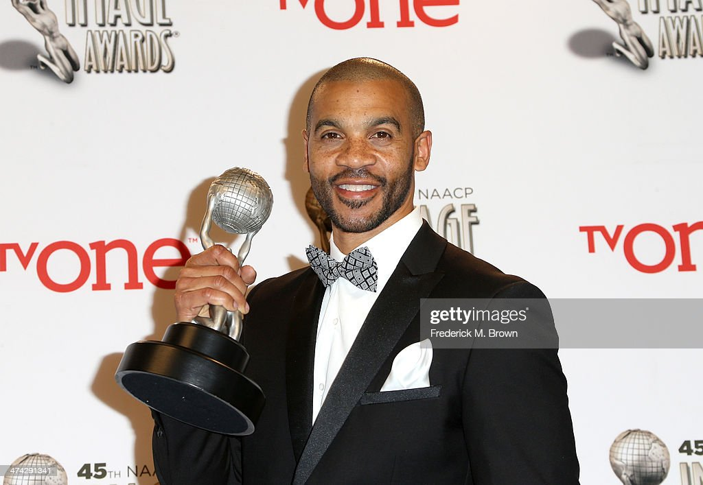 Actor <a gi-track='captionPersonalityLinkClicked' href=/galleries/search?phrase=Aaron+D.+Spears&family=editorial&specificpeople=5547711 ng-click='$event.stopPropagation()'>Aaron D. Spears</a>, winner of the Outstanding Actor in a Daytime Drama Series award for 'The Bold and the Beautiful,' poses in the press room during the 45th NAACP Image Awards presented by TV One at Pasadena Civic Auditorium on February 22, 2014 in Pasadena, California.