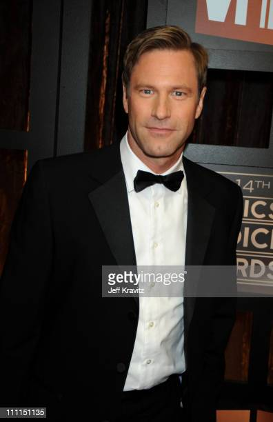 Actor Aaron Eckhart arrives on the red carpet at VH1's 14th Annual Critics' Choice Awards held at the Santa Monica Civic Auditorium on January 8 2009...