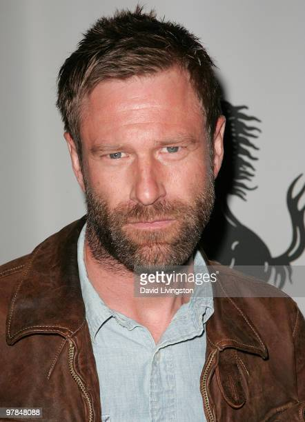 Actor Aaron Eckhart attends Ferrari's charity auction of it's 1st Ferrari 458 Italia in North America at Fleur de Lys on March 18 2010 in Los Angeles...