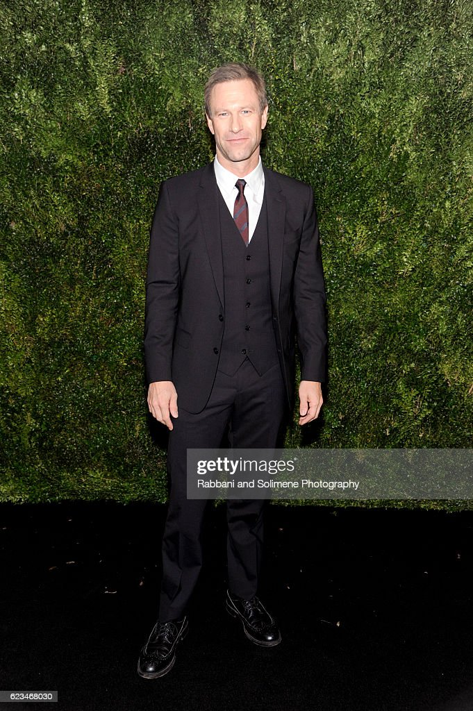 Actor Aaron Eckhart attends the 2016 Museum Of Modern Art Film Benefit presented by Chanel - A Tribute To Tom Hanks at Museum of Modern Art on November 15, 2016 in New York City.