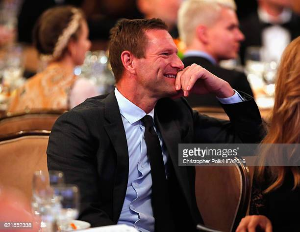 Actor Aaron Eckhart attends the 20th Annual Hollywood Film Awards at The Beverly Hilton Hotel on November 6 2016 in Beverly Hills California