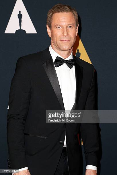 Actor Aaron Eckhart attends the Academy of Motion Picture Arts and Sciences' 8th annual Governors Awards at The Ray Dolby Ballroom at Hollywood...