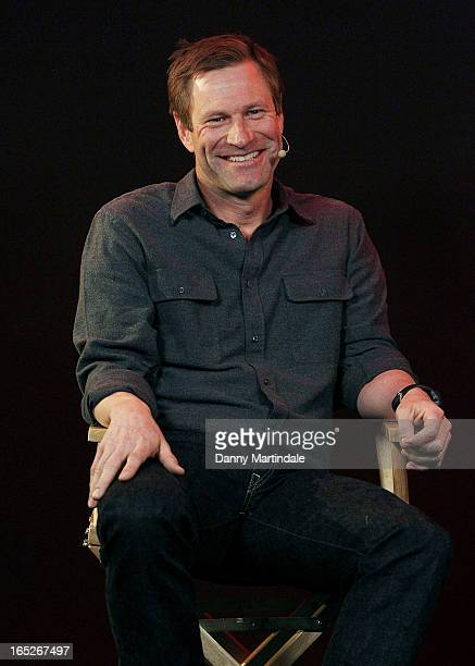 Actor Aaron Eckhart attends the Meet The Filmmakers event ahead of tomorrow's UK Premiere of 'Olympus Has Fallen' at Apple Store Regent Street on...