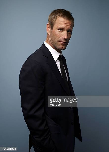 Actor Aaron Eckhart from 'Rabbit Hole' poses for a portrait during the 2010 Toronto International Film Festival in Guess Portrait Studio at Hyatt...