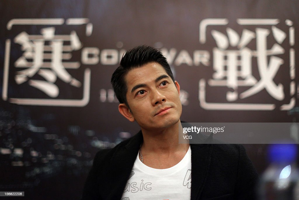 Actor Aaron Kwok attends 'Cold War' press conference at Shangri-La Hotel on November 22, 2012 in Wuhan, China.