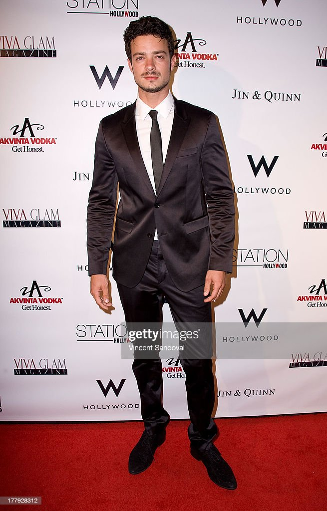 Actor Aaron Lee attends the Viva Glam magazine summer 2013 print issue launch party at W Hollywood on August 25, 2013 in Hollywood, California.