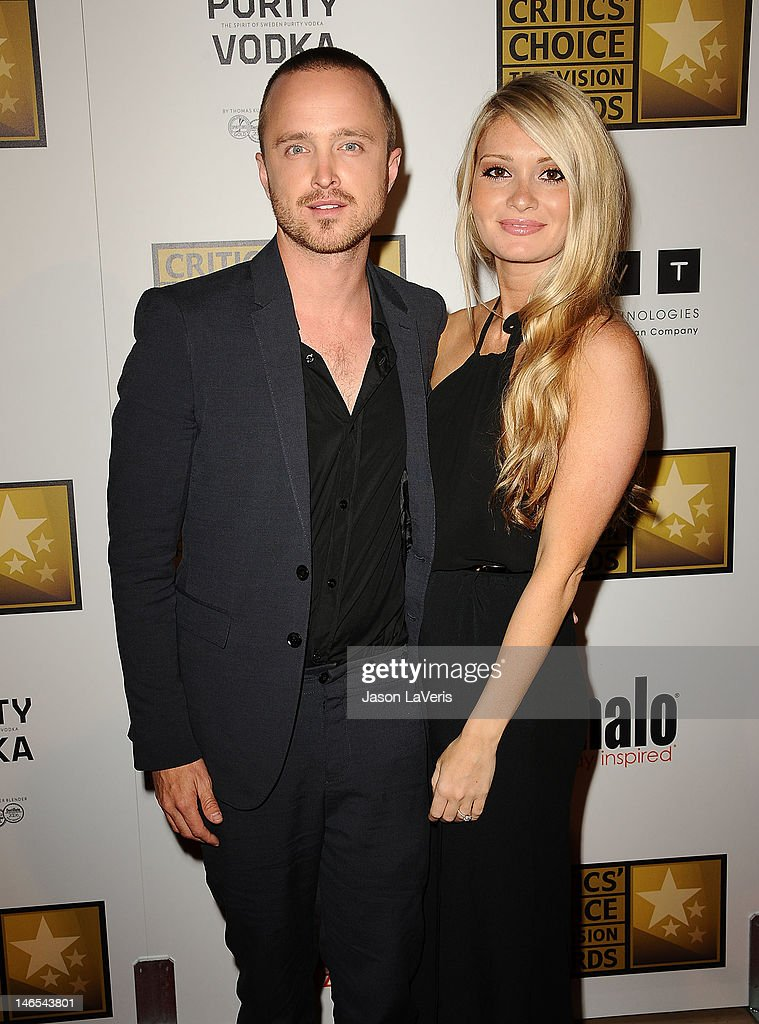 Actor Aaron Paul and Lauren Parsekian attend the Critics' Choice Television Awards at The Beverly Hilton Hotel on June 18 2012 in Beverly Hills...