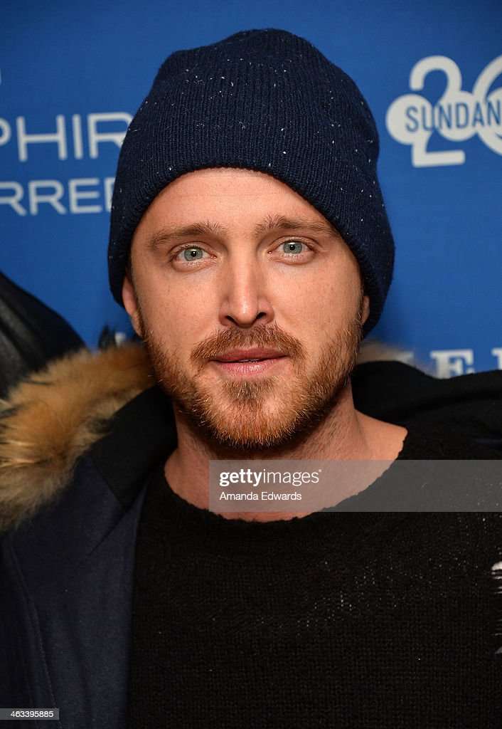 Actor Aaron Paul arrives at the 'Hellion' premiere party at Chase Sapphire on January 17, 2014 in Park City, Utah.